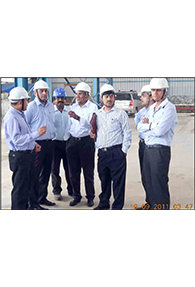 Mr. T. V. Narendran - MD., Tata Steel Ltd. discussing with SKM executives on plant expansion programme during his visit to SKM Metal Processors on 19th November, 2011