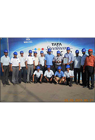 Proud group members of SKM Metal Processors holding the ACE+ award - 2006 and Safety Excellence Award